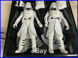 2018 Hot Toys Star Wars First Order Officer & Snowtroopers Set MMS 323 with Box