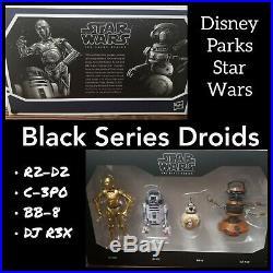 Disney Park Star Wars Black Series Action Figure Set Smugglers First Order Droid