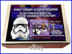 First Order Rogue One Stormtrooper Pro-series Voice Changer Kit 4 Helmet Costume