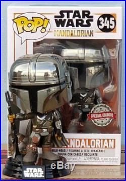 Funko POP! Star Wars The Mandalorian Chrome First Edition RARE VERSION PRE-ORDER