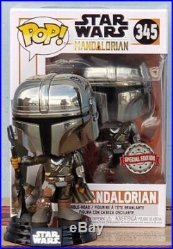 Funko Pop Mandalorian Chrome 1st Edition (Special Edition Sticker) PRE ORDER