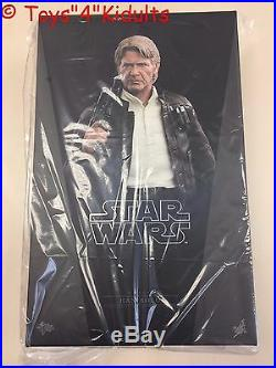 Hot Toys MMS 374 Star Wars Force Awakens First Order Han Solo Harrison Ford NEW