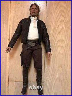 Hot Toys MMS 374 Star Wars Force Awakens First Order Han Solo Harrison Ford USED