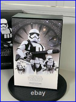 Hot Toys MMS318 HEAVY GUNNER STORMTROOPER Star Wars Ep 7 First Order Preowned