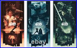 John Guydo Star Wars Trilogy VARIANT Set BNG Poster Mondo Artist PRE ORDER
