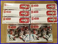 LEGO Star Wars First Order Specialists Battle Pack Building Set 75197 NEW QTY 8