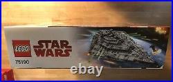 LEGO Star Wars First Order Star Destroyer (75190) Retired Sealed New Nice BOX