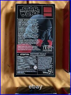 Lot 4 Star Wars Black Series Purge Stormtrooper Exclusive Jedi Fallen Order