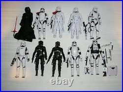 Lot of 10 Star Wars 6 Black Series Figures FIRST ORDER STORMTROOPER+ LOOSE LOT1