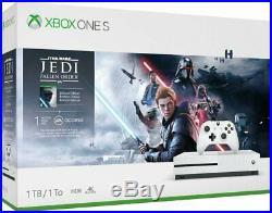 NEW Microsoft Xbox One S 1TB Star Wars Jedi Fallen Order Console Bundle White