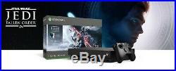 NEW Microsoft Xbox One X 4K HDR 1TB Star Wars Jedi Fallen Order Console Bundle
