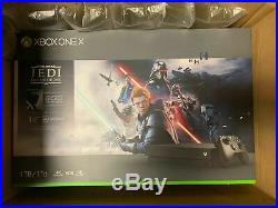 New Sealed Xbox One X 1TB Star Wars Jedi Fallen Order Deluxe Edition Bundle
