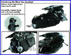 PRE-ORDER Custom Lego Star War Black OPs Gunship 7676 7163 75021 75046 75292