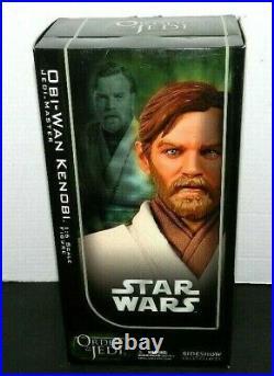 Sideshow Star Wars Obi-wan Kenobi Jedi Master 12 1/6 Scale Figure New Order