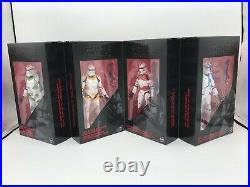 Star Wars 6 Black Series Clone Troopers 4-pack Order 66 Ee Ent Earth Exclusive