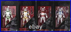 Star Wars 6 Black Series Order 66 Clone Troopers 4-pack New