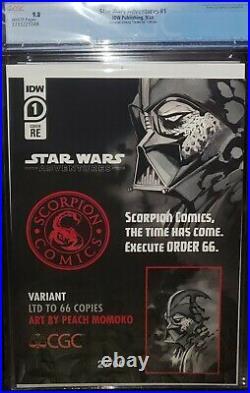 Star Wars Adventures 1 CGC 9.8 Scorpion Comics Order 66 Virgin Momoko COA