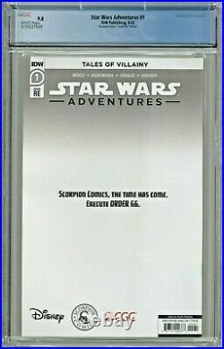 Star Wars Adventures #1 CGC 9.8 Scorpion Comics Order 66 Virgin Momoko COA 66