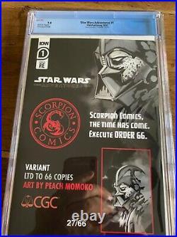 Star Wars Adventures #1 Peach Momoko ORDER 66 Virgin Variant CGC 9.8