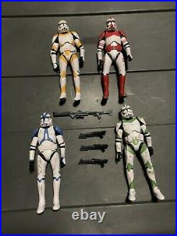 Star Wars Black Series 6 Entertainment Earth Order 66 Clone 4 Pack Unboxed