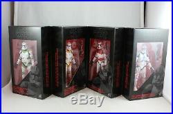 Star Wars Black Series 6 Inch Order 66 EE Exclusive 4 Pack Clone Troopers NEW