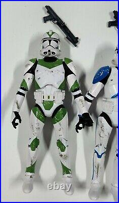 Star Wars Black Series Clone Troopers Lot of 5 Phase II 501st Order 66 212th