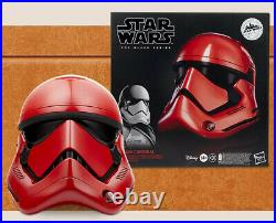 Star Wars Black Series Galaxys Edge Red First Order Trooper Helmet Cap Cardinal