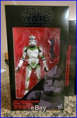 Star Wars Black Series Order 66 Entertainment Earth 4 Pack Clone Trooper 6 Lot
