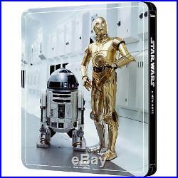 Star Wars/Empire/Jedi Episodes IVVI 3 SteelBooks 4K+2 Blu-ray PRE-ORDER