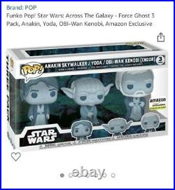 Star Wars Force Ghost 3 Pack Funko Pop Amazon Exclusive Pre Order
