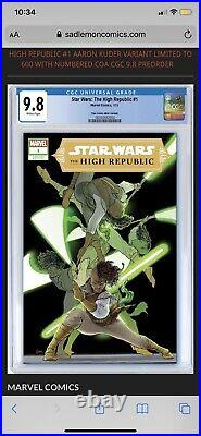 Star Wars High Republic #1 Aaron Kuder VARIANT Limited to 600 CGC 9.8 Pre-Order