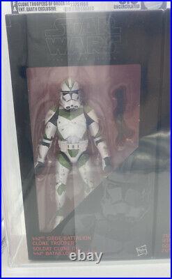 Star Wars The Black Series Clone Troopers of Order 66 Uncirculated Grade AFA 8.5