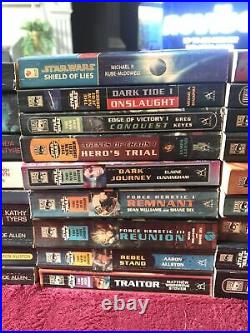 Star Wars X35 Novel Book Bundle New Jedi Order X-wing And More